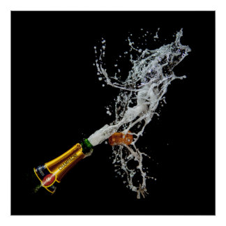 Bottle of Champagne Poster/Print Poster