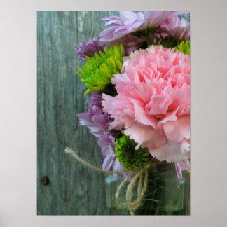 Bottle of Flowers & Barnwood Posters