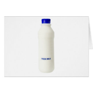 Bottle of fresh milk card