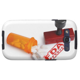 Bottle of Pills and a FDA APPROVED rubber stamp Samsung Galaxy S3 Covers