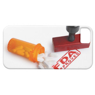 Bottle of Pills and a FDA APPROVED rubber stamp iPhone SE/5/5s Case