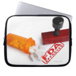 Bottle of Pills and a FDA APPROVED rubber stamp Laptop Sleeve