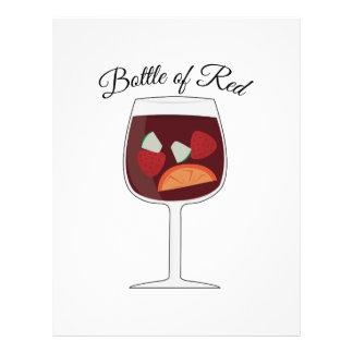 Bottle of Red Custom Letterhead