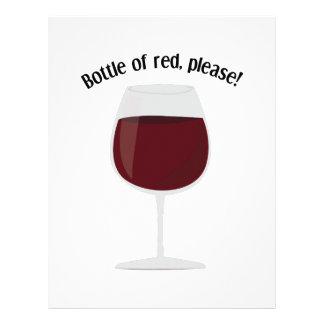 Bottle Of Red, Please! Personalized Letterhead