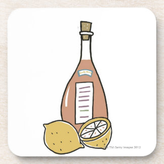 Bottle of Red Wine Coaster