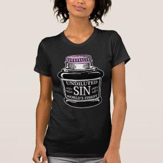 Bottle of Sin ladies dark t-shirt