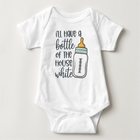 Bottle Of The House White Baby Bodysuit