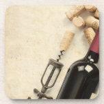 Bottle of Wine Beverage Coaster