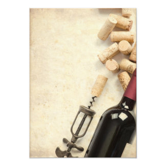 Bottle of Wine Card