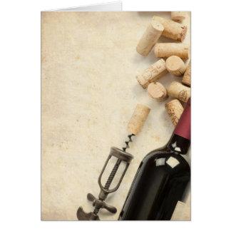 Bottle of Wine Card