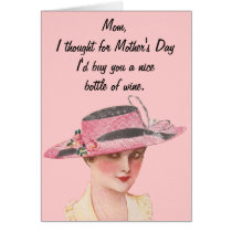Bottle of Wine For Mother's Day Card