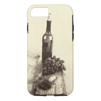 Bottle of wine, grapes iPhone 7 case