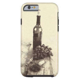 Bottle of wine, grapes tough iPhone 6 case