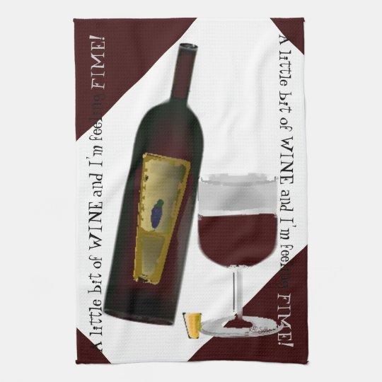 Bottle of Wine Hand Towel