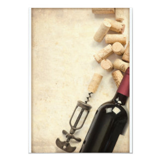 Bottle of Wine 5x7 Paper Invitation Card