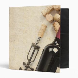 Bottle of Wine Vinyl Binders