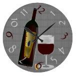 Bottle of Wine Wallclock