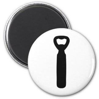 bottle opener icon 2 inch round magnet