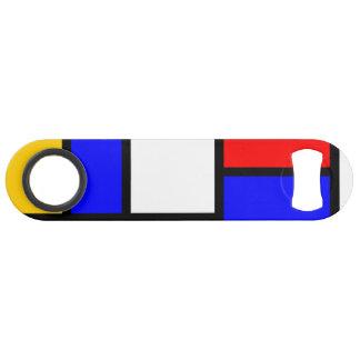 bottle opener Mondrian style