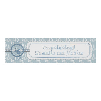 Bottle & Pacifier Baby Shower Banner Boy Posters