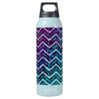 Bottle Retro Zig Zag Chevron Pattern