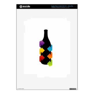 Bottle shaped design element decal for iPad 3