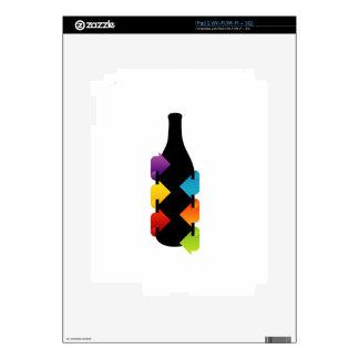 Bottle shaped design element iPad 2 skin