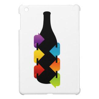 Bottle shaped design element iPad mini covers