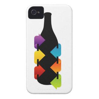 Bottle shaped design element iPhone 4 Case-Mate case
