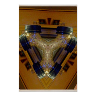 Bottle top kaleidoscope poster
