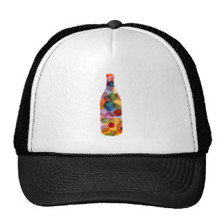 Bottle with circles trucker hat