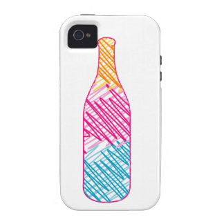Bottle with colorful sketches iPhone 4/4S cover