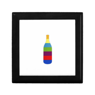 Bottle with colorful strips keepsake boxes