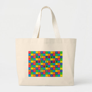BottleCap Fun Large Tote Bag