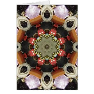 Bottlecap Mandala Card