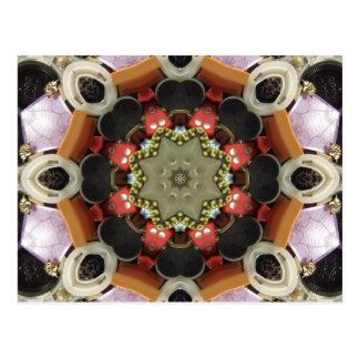 Bottlecap Mandala Postcard