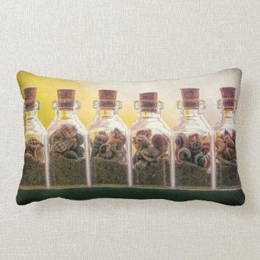Beach Themed Bottled Beaches Lumbar Pillow