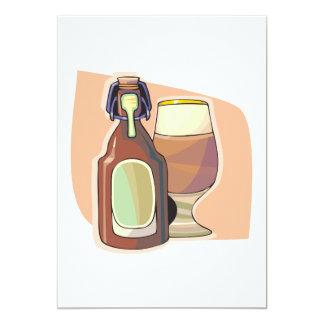 Bottled Beer 5x7 Paper Invitation Card