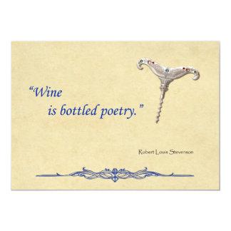 "Bottled Poetry 5"" X 7"" Invitation Card"