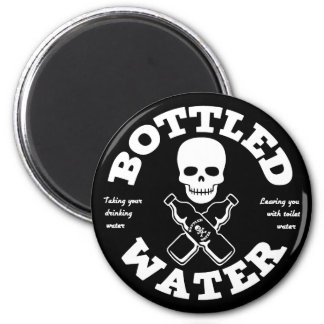 Bottled Water 2 Inch Round Magnet