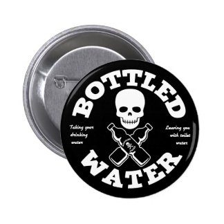 Bottled Water Pinback Button