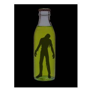 Bottled Zombie Postcard