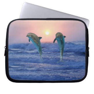 Bottlenose Dolphin at Sunrise Computer Sleeve