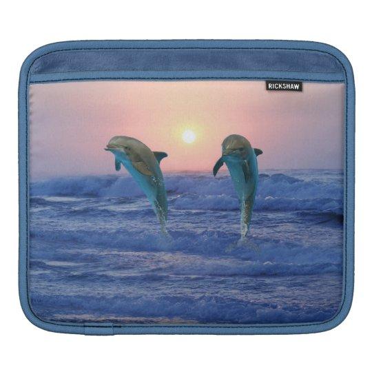 Bottlenose Dolphin at Sunrise iPad Sleeve