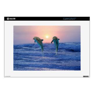 Bottlenose Dolphin at Sunrise Laptop Skin