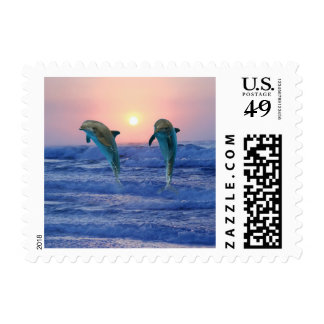 Bottlenose Dolphin at Sunrise Postage
