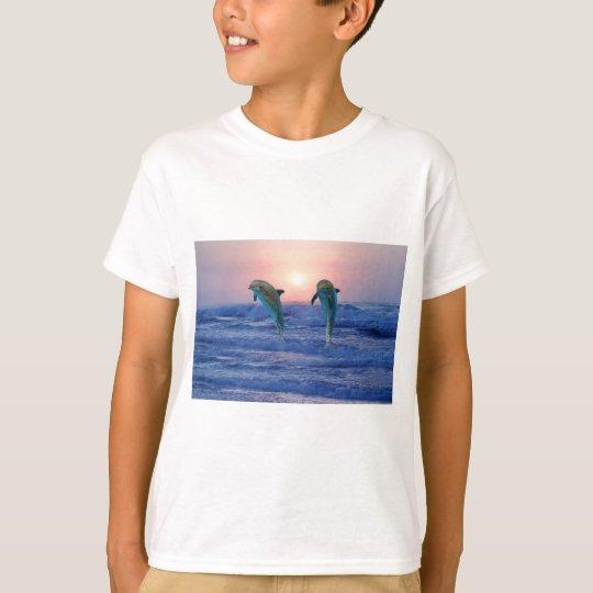 Bottlenose Dolphin at sunrise T-Shirt