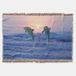 Bottlenose Dolphin at Sunrise Throw