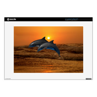 "Bottlenose Dolphin at Sunset 15"" Laptop Skin"