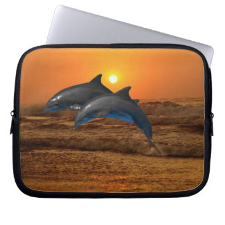 Bottlenose Dolphin at Sunset Computer Sleeve